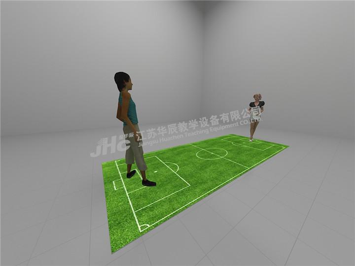 投影互动足球