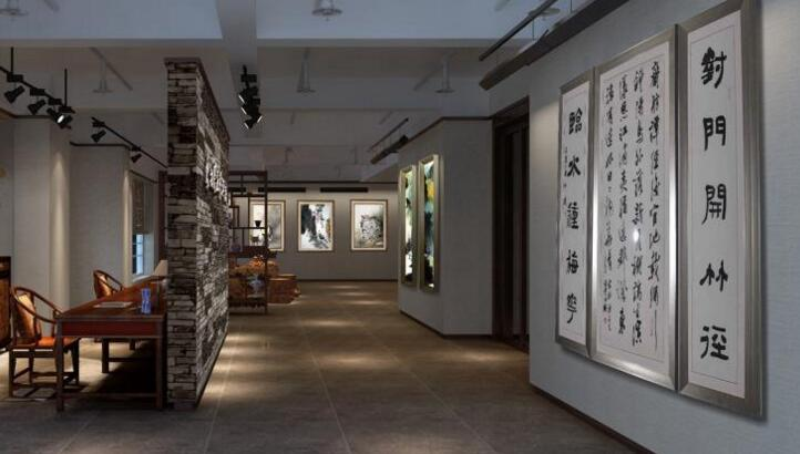 书画展厅平面设计布置图分享展示图片